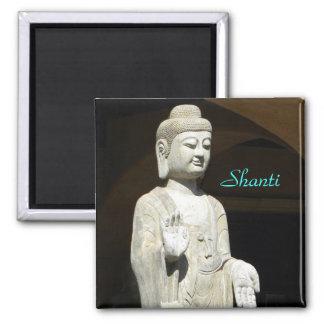 Buddha blessing square magnet
