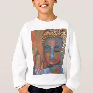 buddha-blessing-white-robe-high sweatshirt