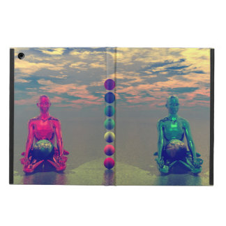 buddha blue and red and chakra iPad air cover
