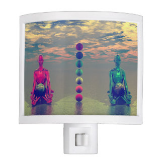 buddha blue and red and chakra nite lights