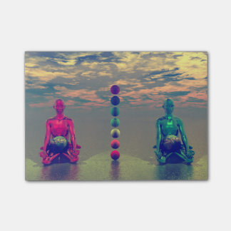 buddha blue and red and chakra post-it® notes