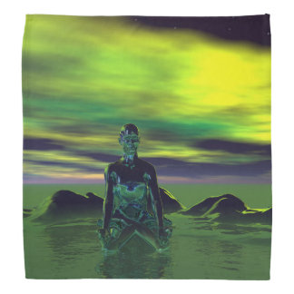 buddha blue and sky green bandana