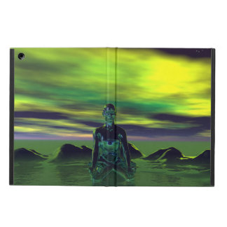 buddha blue and sky green iPad air cover