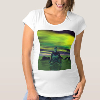buddha blue and sky green maternity T-Shirt