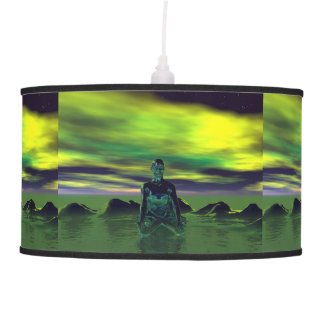 buddha blue and sky green pendant lamp