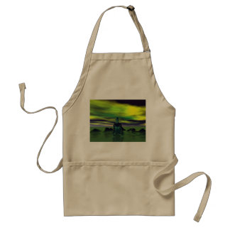 buddha blue and sky green standard apron