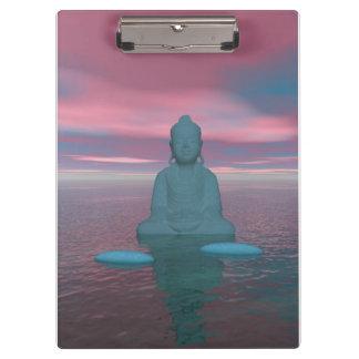 buddha blue and steps grey clipboard