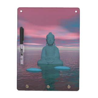 buddha blue and steps grey dry erase board