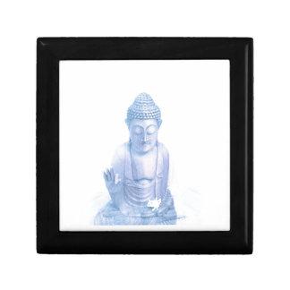 buddha blue and tiny white mouse gift box