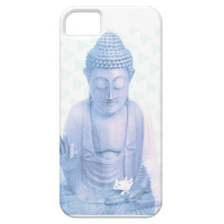 buddha blue and tiny white mouse iPhone 5 case
