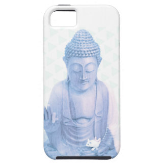 buddha blue and tiny white mouse iPhone 5 covers