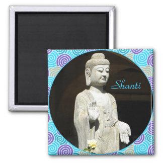 Buddha blues blessing square magnet