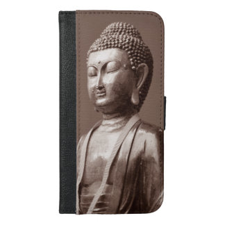 Buddha, Buddah Statue Buddhism Religion iPhone 6/6s Plus Wallet Case