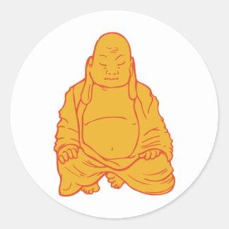 Buddha ~ Buddhism Buddhist Sunburst Classic Round Sticker