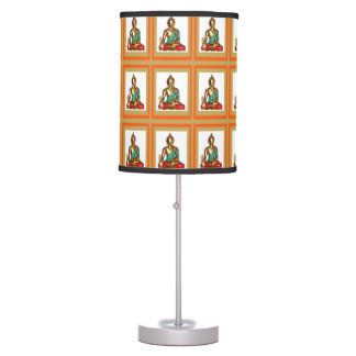 BUDDHA BUDDHISM :  Colorful Celebrations Table Lamp