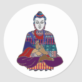 BUDDHA Buddhism Teacher Master NVN659 spiritual Round Sticker