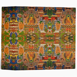 Buddha Buddhist Buddhism Blessing Boho Bohemian 3 Ring Binders