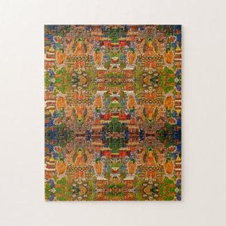 Buddha Buddhist Buddhism Blessing Boho Bohemian Jigsaw Puzzle