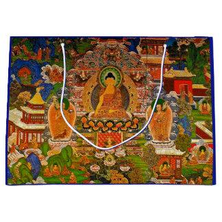 Buddha Buddhist Buddhism Blessing Boho Bohemian Large Gift Bag