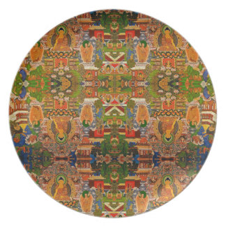Buddha Buddhist Buddhism Blessing Boho Bohemian Plate