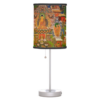 Buddha Buddhist Buddhism Blessing Boho Bohemian Table Lamp