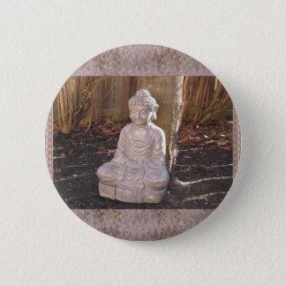 Buddha Buddhist Spiritual Statue Idol Peace Happy 2 Inch Round Button