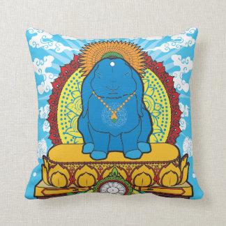 BUDDHA BUNNY THROW PILLOW