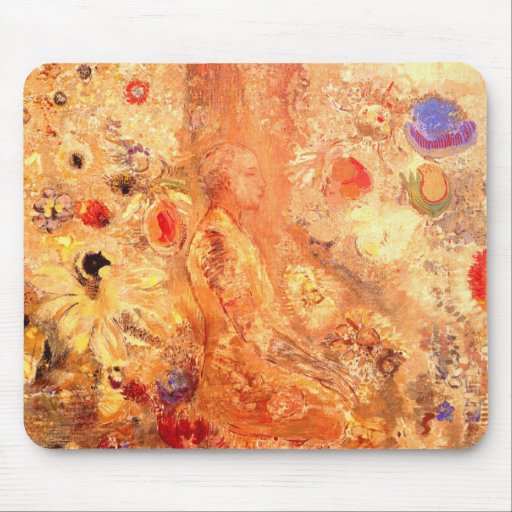 Buddha by Symbolist Painter Odilon Redon Mousepad