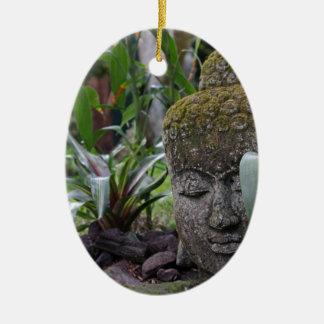 Buddha Ceramic Oval Ornament