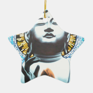 Buddha Ceramic Star Ornament