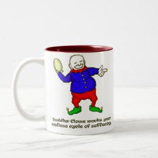 Buddha Clown Two-Tone Coffee Mug