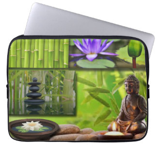 Buddha  Collage Laptop Sleeve