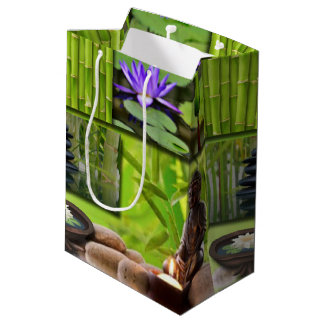 Buddha  Collage Medium Gift Bag