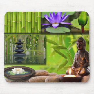 Buddha  Collage Mouse Pad