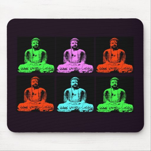 Buddha Collage Mouse Pads
