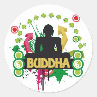 Buddha Color Trip Classic Round Sticker