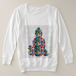 BUDDHA Consciousness : Rolled into JEWELS Plus Size Sweatshirt