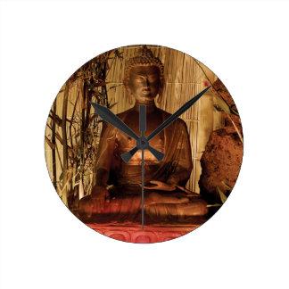 BUDDHA : Copper Statue Wallclocks
