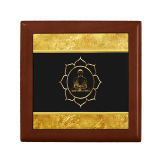 Buddha doing yoga meditation spiritual gold foil gift box
