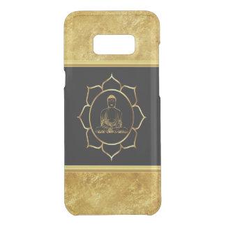 Buddha doing yoga meditation spiritual gold foil uncommon samsung galaxy s8 plus case
