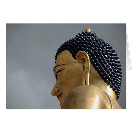Buddha Dordenma statue Greeting Cards