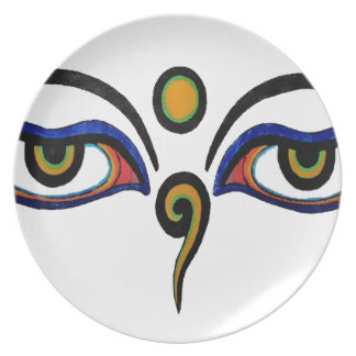 Buddha Eyes Art Plate