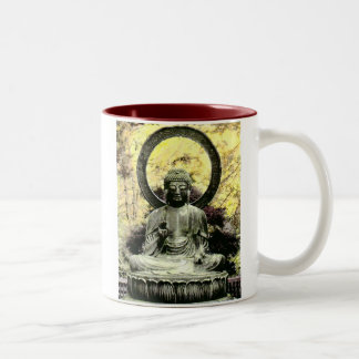 Buddha Fire Sky, Golden Gate Park. Two-Tone Coffee Mug