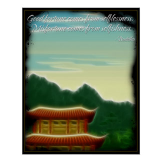 Buddha Fortune Quote Poster