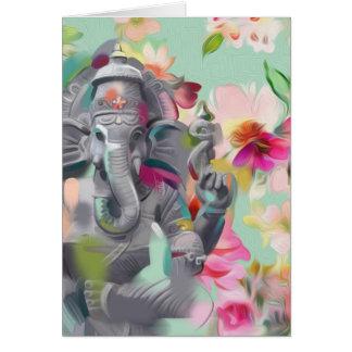 Buddha Ganesha Art greeting card   positivity