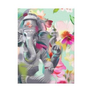 Buddha Ganesha Art print on Canvas