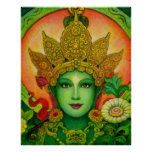 Buddha Goddess Green Tara beautiful art Poster