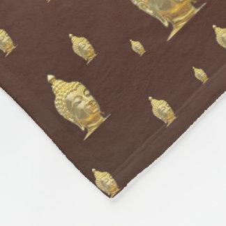 buddha, golden + buddha, asian pattern, shiny, fleece blanket