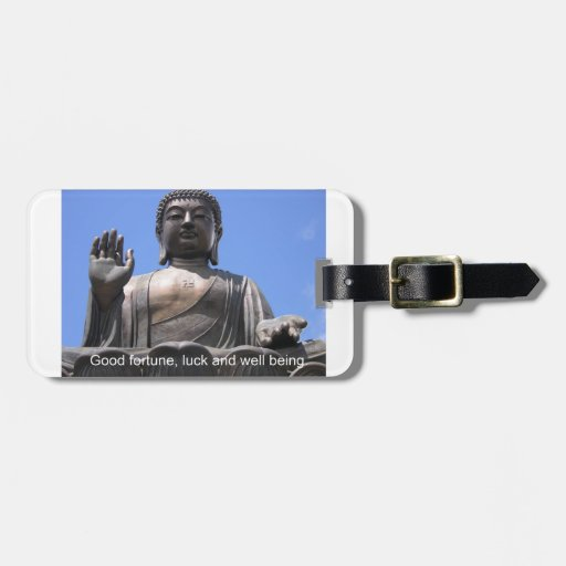 Buddha - Good fortune, luck and wellbeing Bag Tags