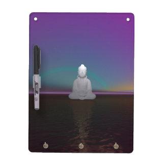 buddha green and black dry erase board